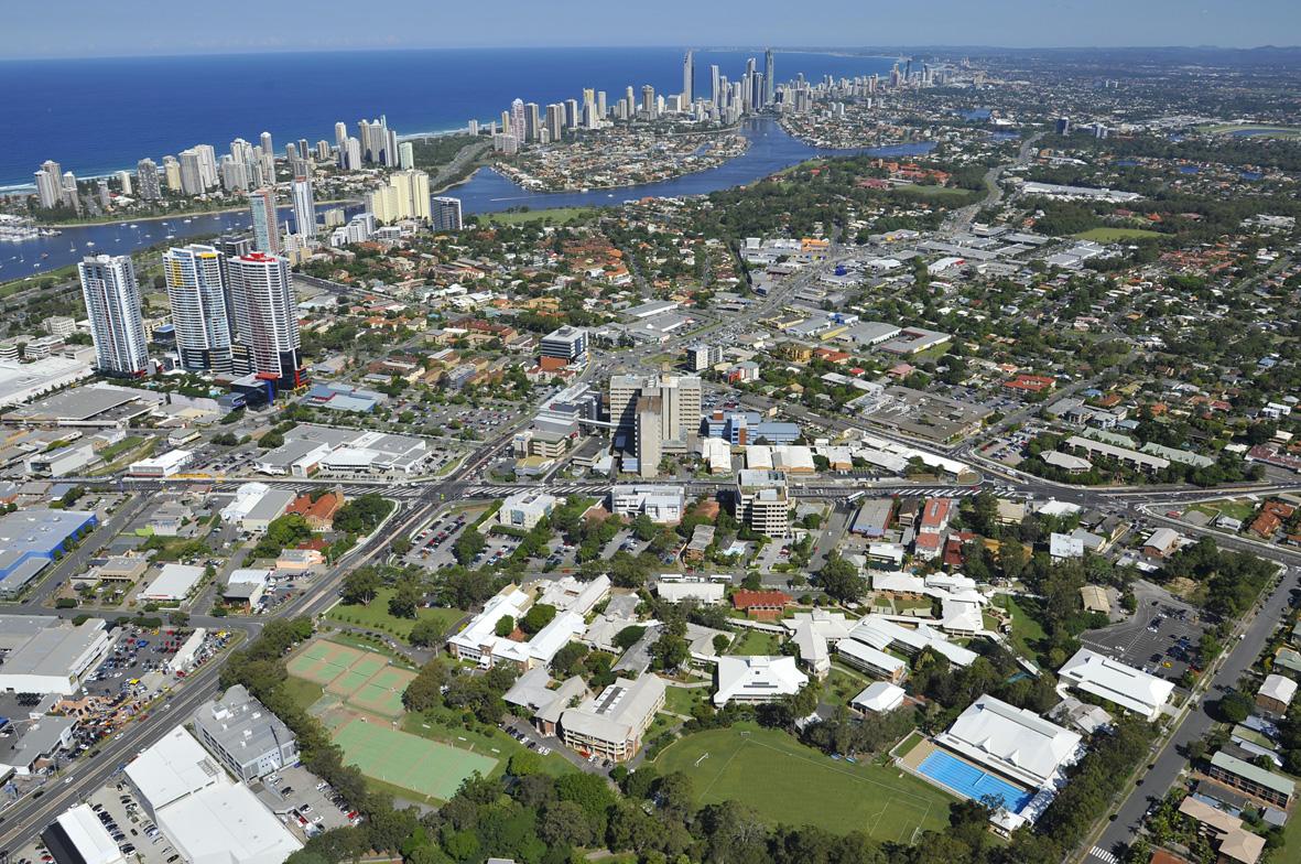 Aerial photo of school 2012